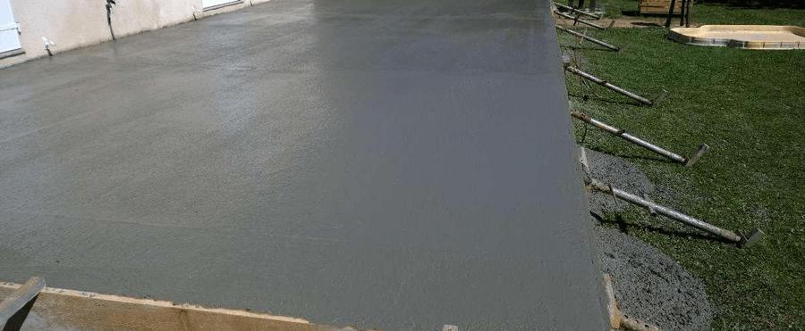 Épaisseur dalle de béton selon les travaux