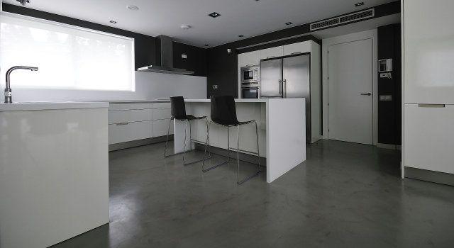 Béton ciré interieur cuisine