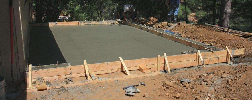 Le coffrage en bois pour terrasse beton