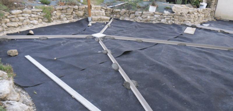 Géotextilesous une dalle de beton