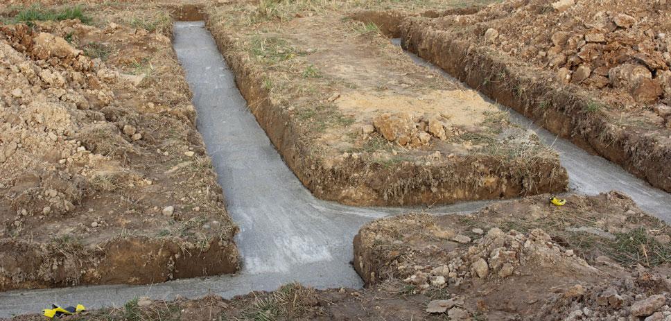 fondations béton de propreté
