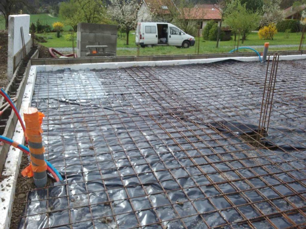 film polyane pour dalle beton de la maison