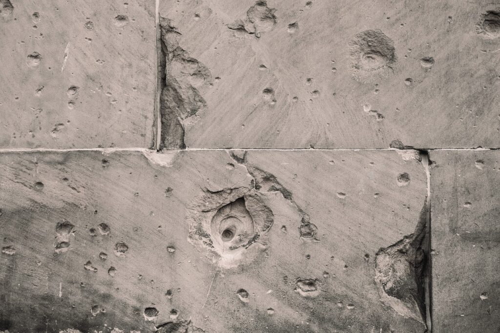 Réparation d'un sol en béton